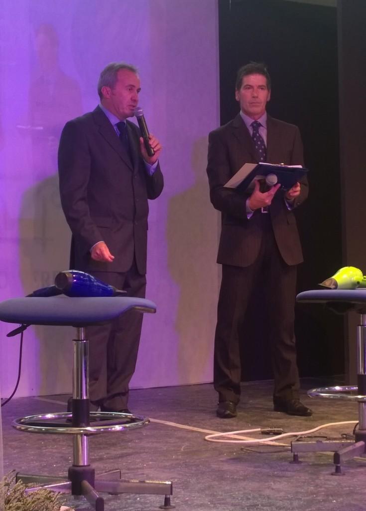 Bruno Papini, Presidente del Centro Anam Massa Carrara - accanto a lui il presentatore dell'evento, il coach Giancarlo Fornei - Carrara 4 ottobre 2015