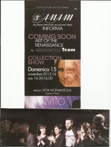 Modena 15 novembre 2015: Show Collection A.N.A.M Modena By ESSENSUAL TEAM!