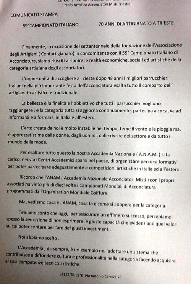 Comunciato Anam Trieste 1