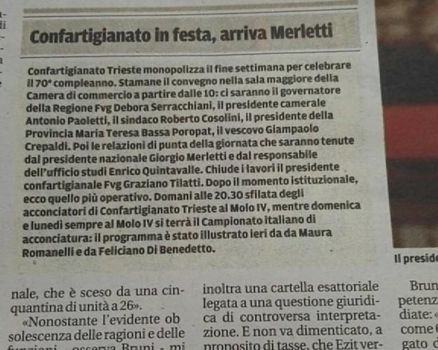 A Treste A.N.A.M. e Confartigianato in festa per il campionato italiano di acconciatura...