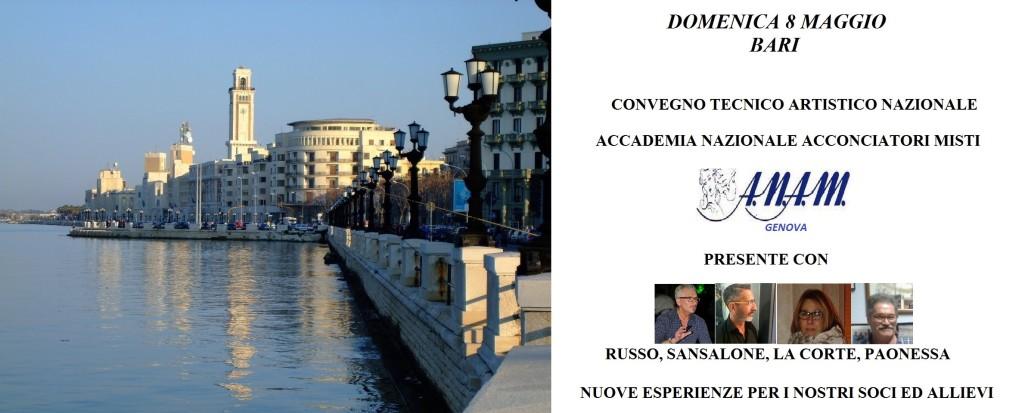 A.N.A.M. (Accademia Nazionale Acconciatori Misti): Convegno Tecnico Artistico Nazionale - Bari 8 Maggio 2016...
