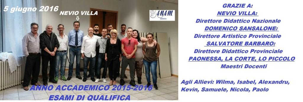 Accademia Nazionale Acconciatori Misti: il Direttore Didattico Nazionale Nevio Villa al Centro Anam di Genova (5 giugno 2016)...