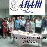 A.N.A.M. Genova: fine anno accademico 2015/2016!