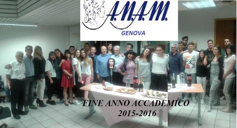 Anam genova - fine anno accademico 2015-2016