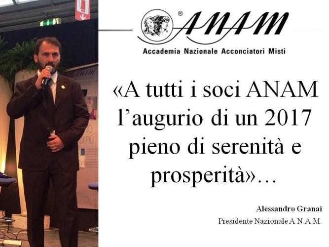2017: gli auguri di Alessandro Granai, Presidente Nazionale A.N.A.M.