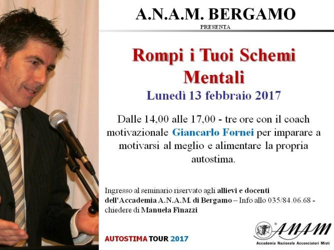 L'Accademia A.NA.M. di Bergamo, ospita il seminario motivazionale di Giancarlo Fornei!