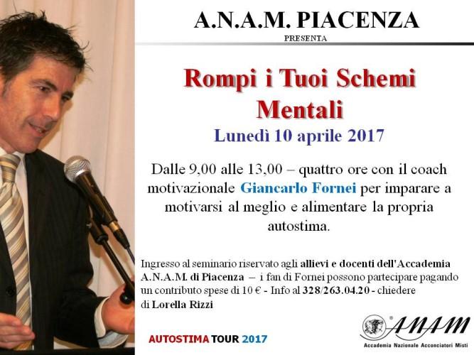 L'Accademia A.NA.M. di Piacenza, ospita il seminario motivazionale di Giancarlo Fornei!