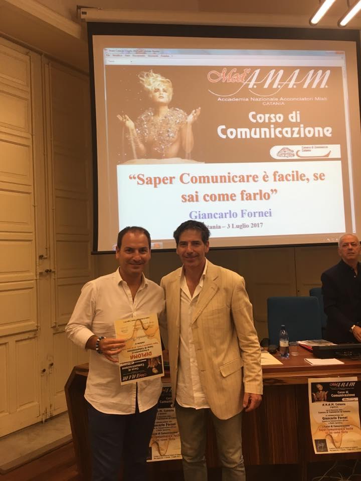 Giancarlo Fornei a Catania 3 luglio 2017 - con Alessandro Vassallo dell'Accademia Anam Palermo