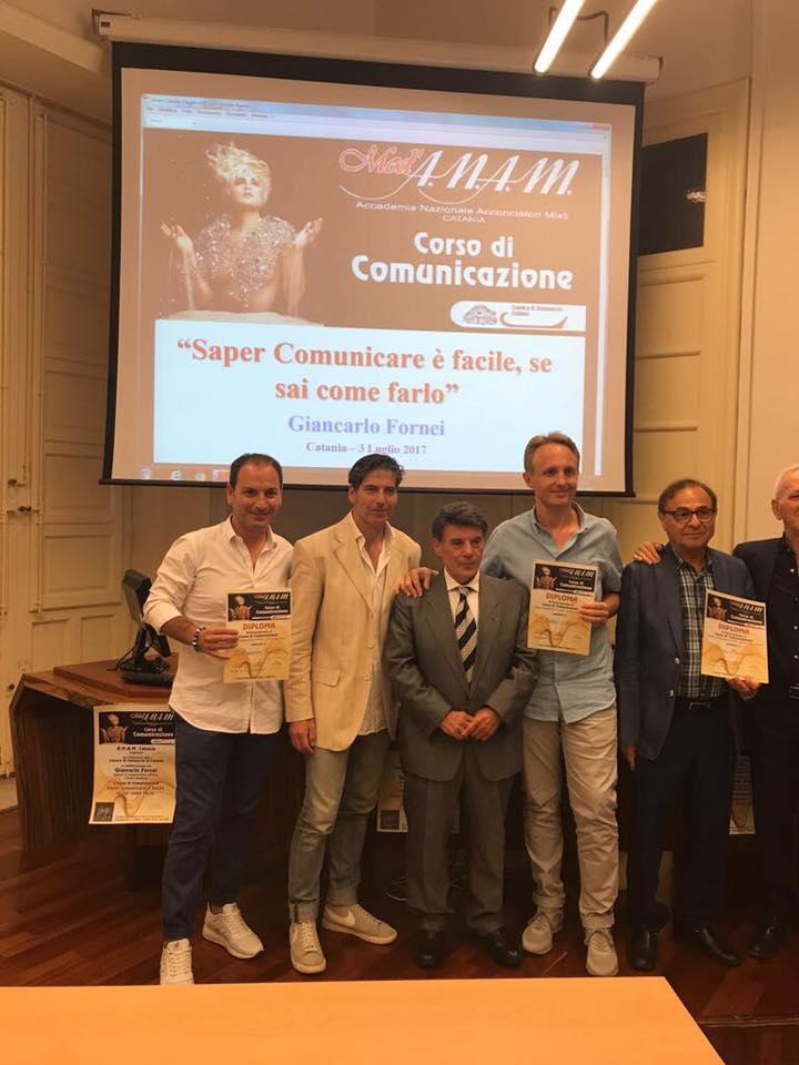 Giancarlo Fornei a Catania 3 luglio 2017 - foto di gruppo