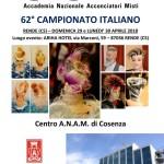 A.N.A.M. – 62° Campionato Italiano (29 e 30 aprile 2018) – Rende (Cosenza)! (scarica il programma completo in pdf)…