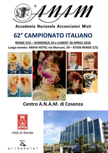 A.N.A.M. - 62° Campionato Italiano (29 e 30 aprile 2018) - Rende (Cosenza)! (scarica il programma completo in pdf)...