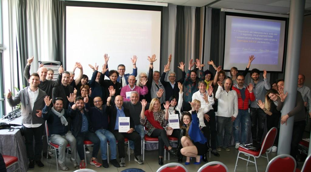 Foto di gruppo con tutti i partecipanti al Convegno Didattico Anam 2018 Bologna