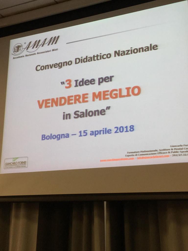 La slide di presentazione di Giancarlo Fornei
